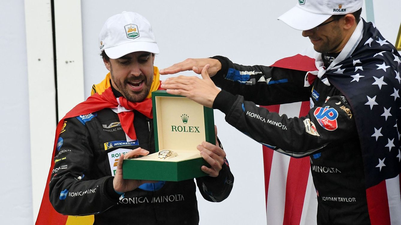 Foto: Alonso jugó un papel destacado en la victoria del Wayne Taylor Racing y Cadillac en las 24 Horas de Daytona. (EFE)