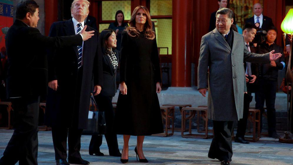 Foto: Bienvenida imperial para el presidente Trump