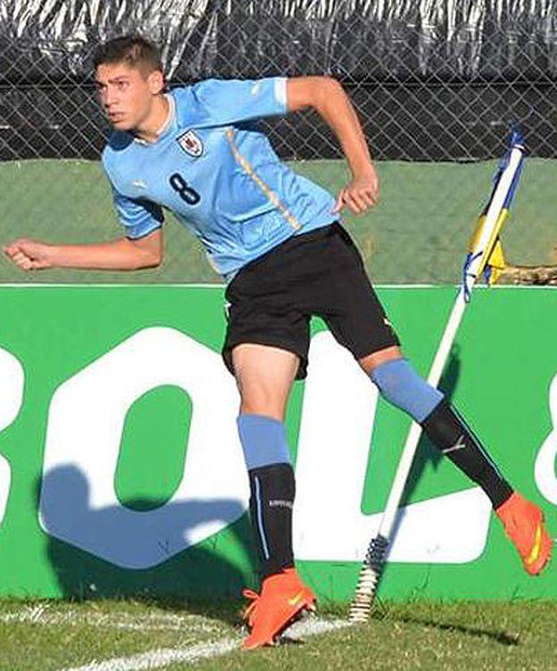Foto: Federico Valverde, con la selección uruguaya