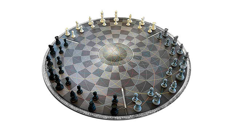 tablero de ajedrez redondo Monsterzeug