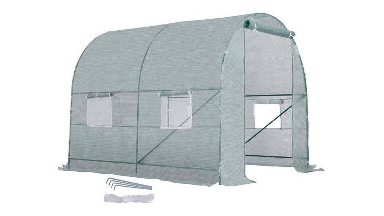Invernadero de jardín con cubierta transparente y 6 ventanas HOMCOM