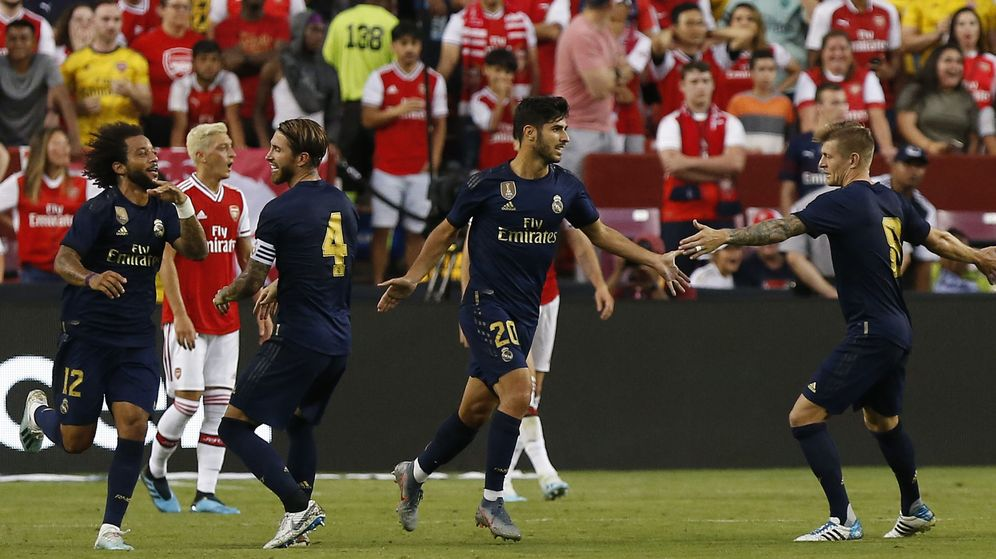 Foto: Marco Asensio se lesionó en el amistoso contra el Arsenal. (Reuters)