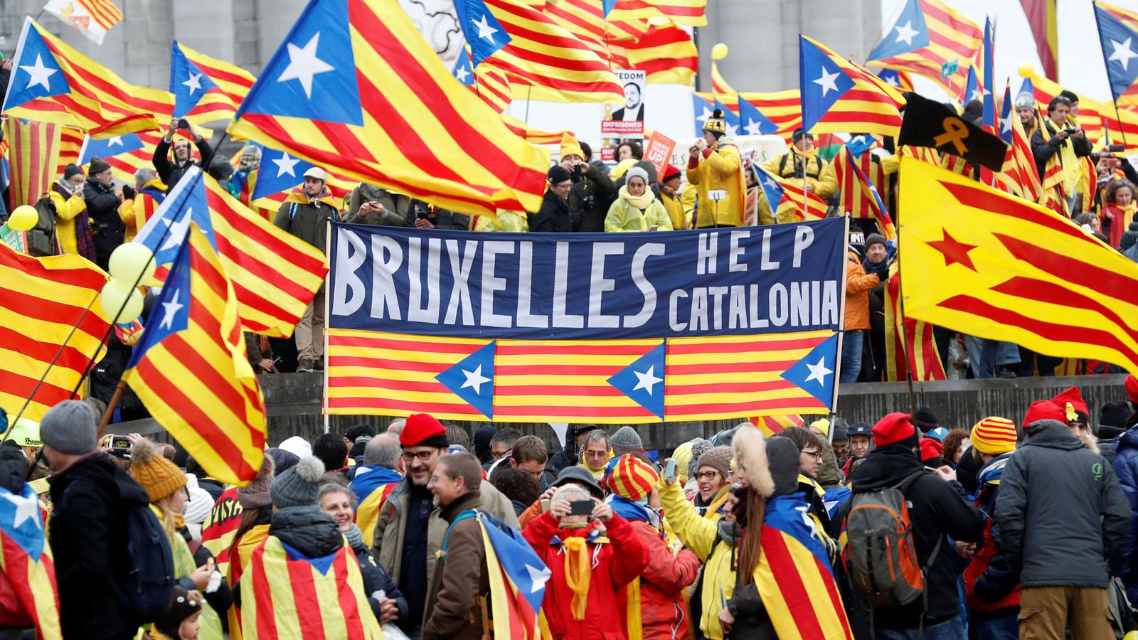 Foto: Manifestación independentista en Bruselas. (Reuters)
