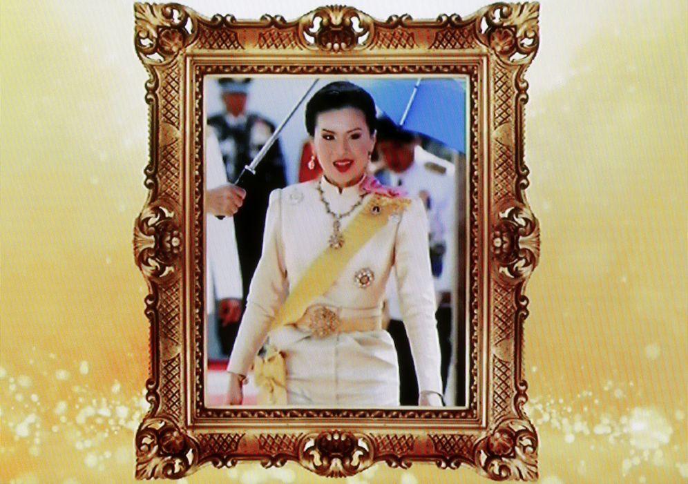 Foto: Imagen de la princesa Ubolratana Mahidol emitida por la televisión estatal de Tailandia. (EFE)