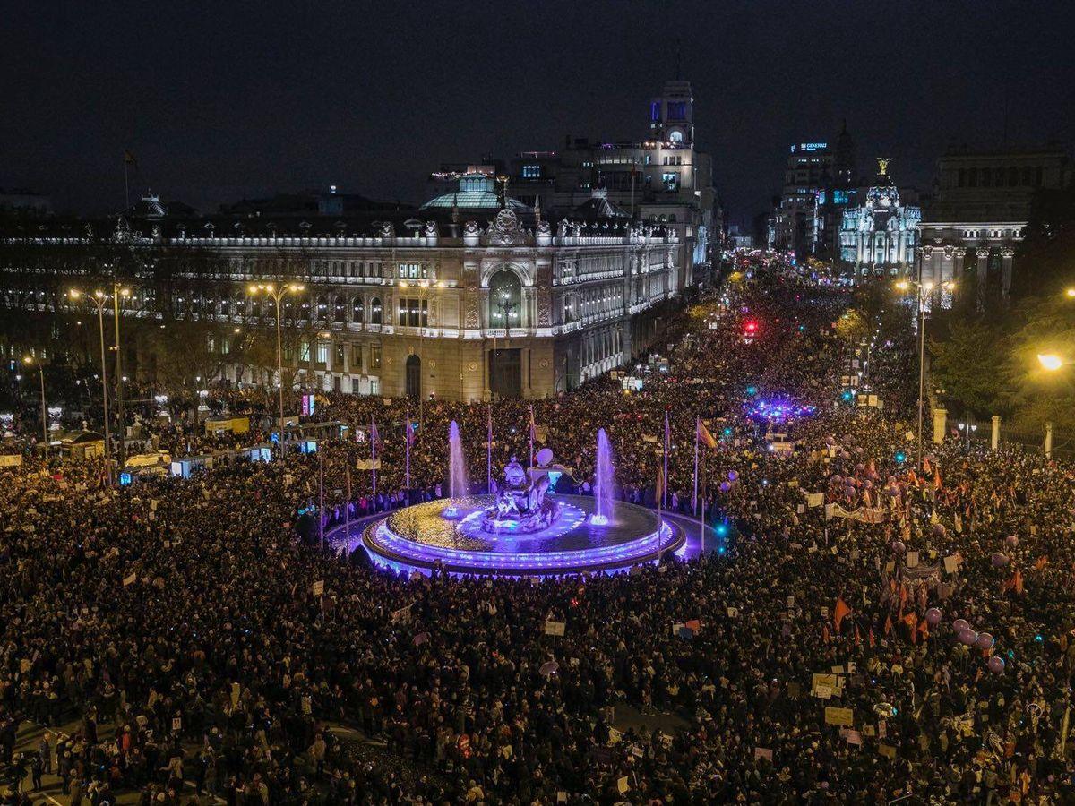 Foto: La manifestación del pasado 8 de marzo, en Madrid. (EFE)