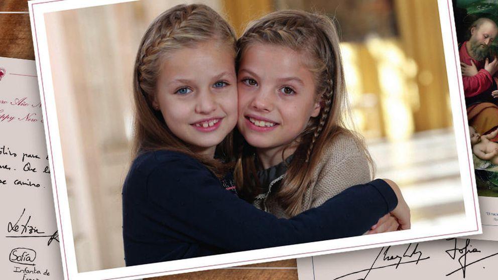 Leonor y Sofía, protagonistas de la felicitación de Navidad de Casa Real