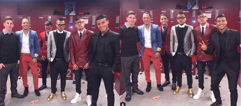 Foto: Los jugadores del Barcelona marcan un gol al buen gusto