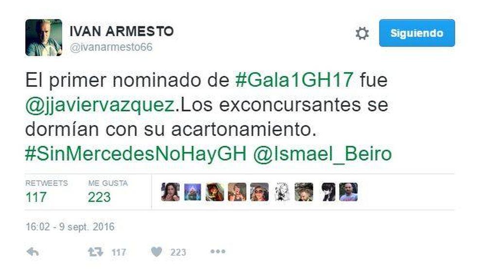 Los tuits de los 'grandes hermanos' contra Jorge Javier Vázquez