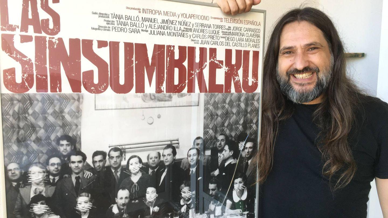 Manuel Jiménez-Núñez, director, productor y guionista de 'Las Sinsombrero', en su estudio de Torremolinos. (Agustín Rivera)