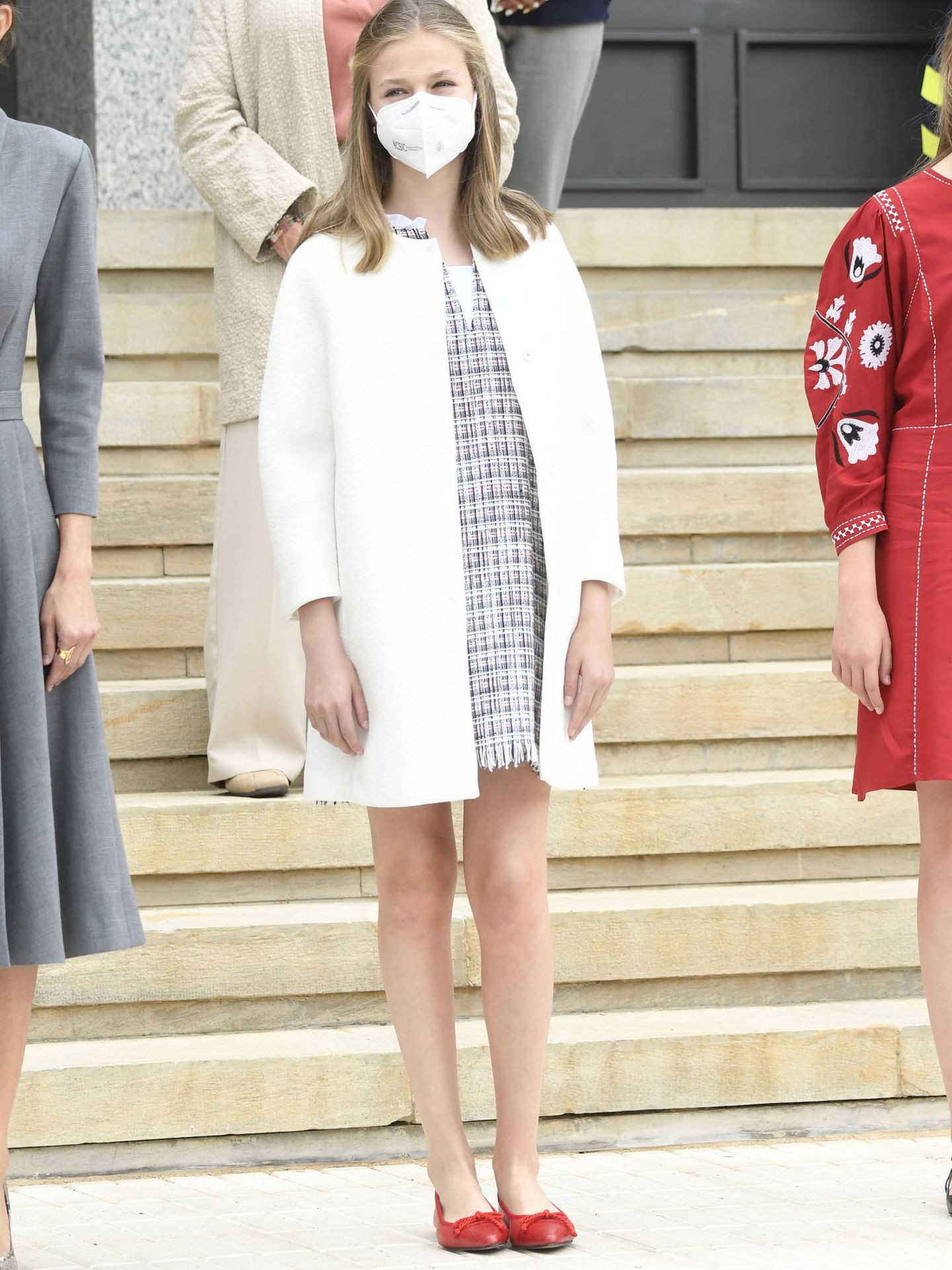 El look de la Princesa de Asturias en Cartagena. (LP)