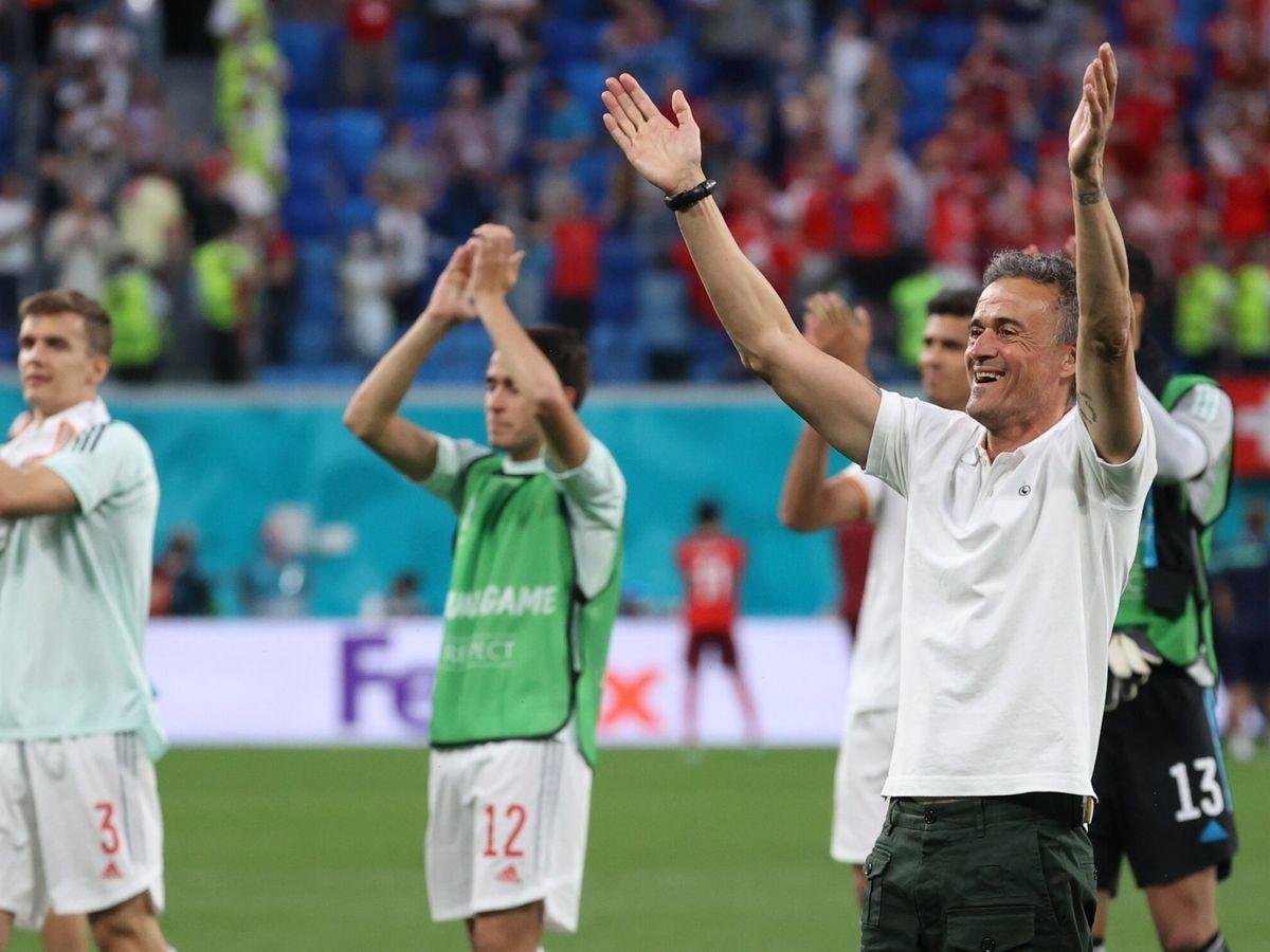 Foto: El seleccionador Luis Enrique durante el encuentro de España de cuartos de final