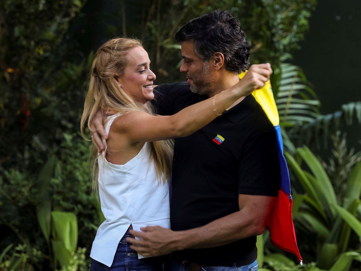 Foto: Leopoldo López y Lilian Tintori, en una imagen de archivo. (EFE)