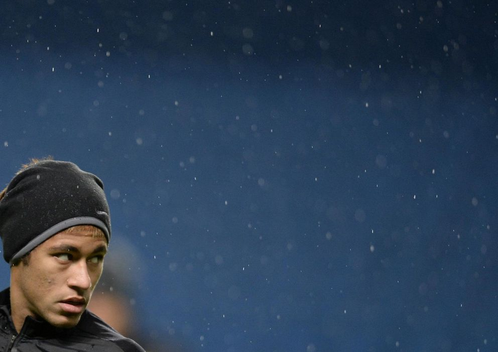 Foto: Neymar, durante un entrenamiento con el Barcelona en la presente temporada.