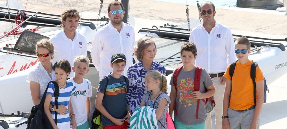 Foto de familia en Palma sin la infanta Cristina