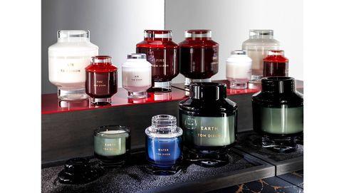 Las velas perfumadas de Tom Dixon huelen a fuego, aire, tierra y agua