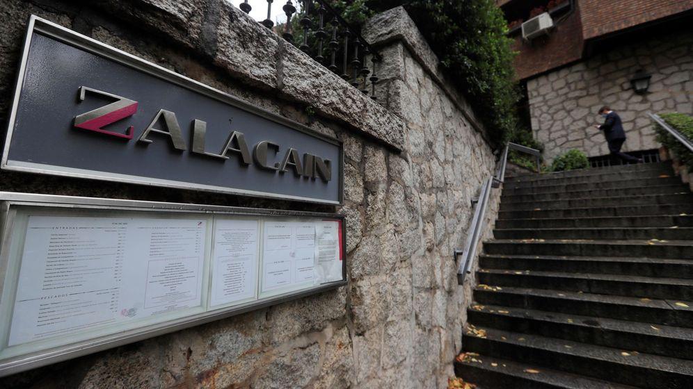 Foto: Vista de la entrada del restaurante Zalacaín. (EFE)