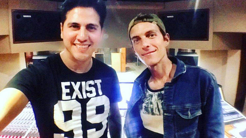 Adrián Reyes, productor del disco, y Camilo Blanes. (Instagram)
