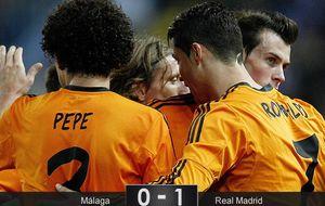 El Madrid sabe sufrir con un Cristiano que es más rebelde que todo el Málaga