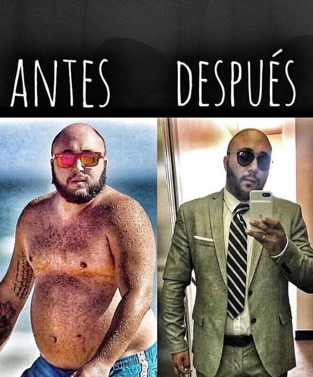 Foto: Kiko Rivera, antes y después de perder peso. (Instagram)