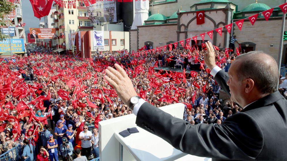 Foto: Erdogan en un mitin