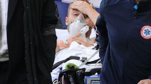 Eriksen, estable en el hospital, pidió a sus compañeros que jugasen el resto del partido