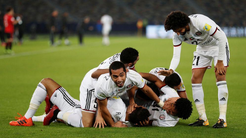 Foto: Jugadores del Al Jazira celebran el gol que les dio el triunfo ante los Urawa Red Diamonds. (Reuters)