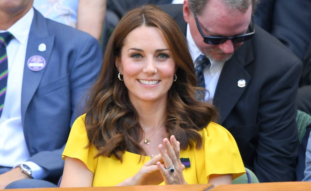 Foto: La duquesa de Cambridge, Kate Middleton, en Wimbledon. (Getty)