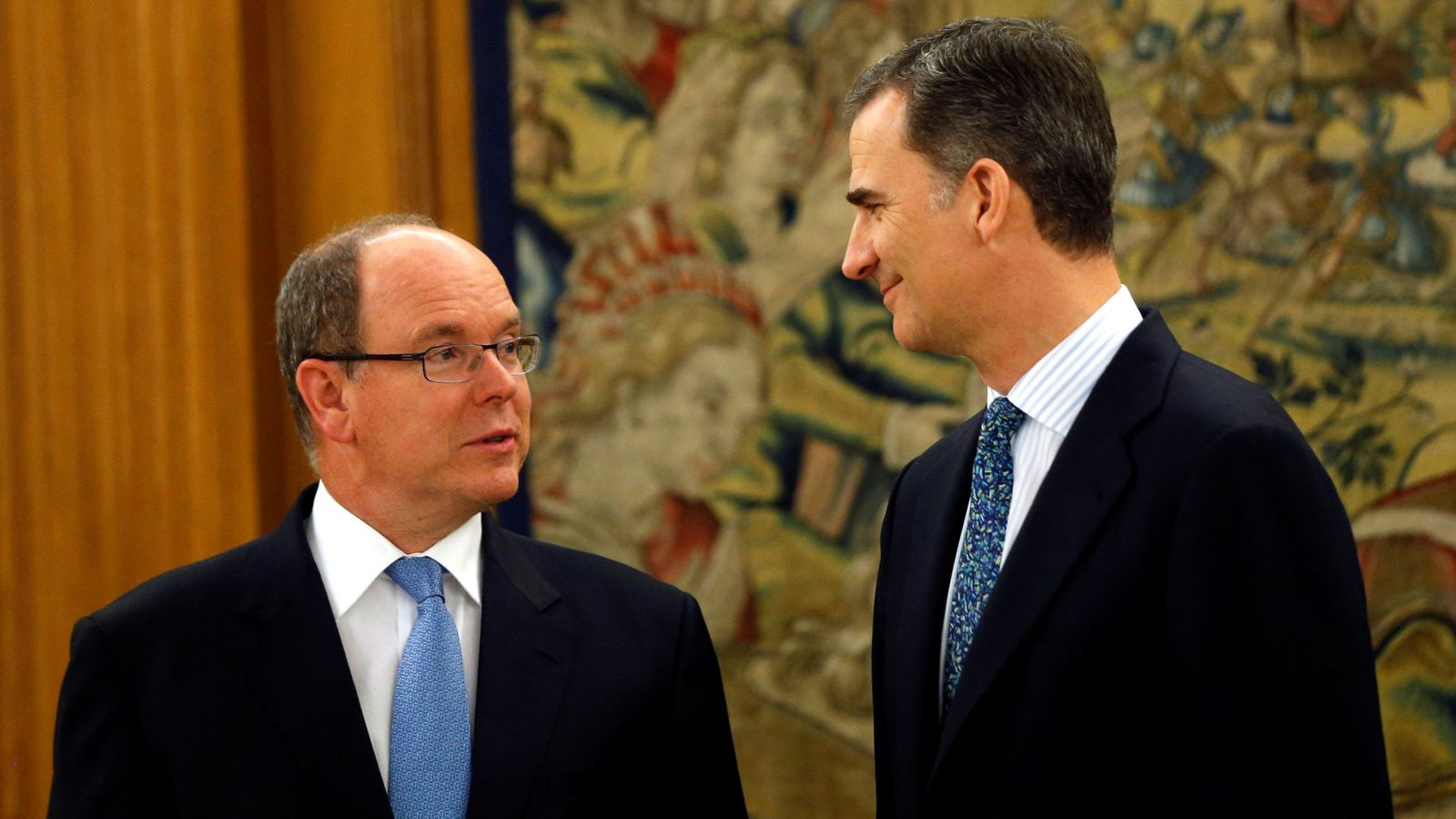 Foto: El rey Felipe con Alberto de Mónaco, en 2016. (Reuters)