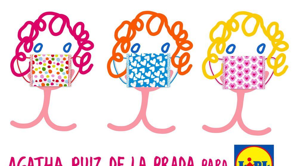 Foto: La colección de mascarillas higiénicas reutilizables diseñada por Ágatha Ruiz de la Prada (Lidl)