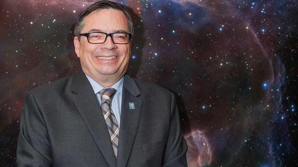 Foto: Barcons, poco antes de convertirse en director general de la ESO en Garching, Alemania.