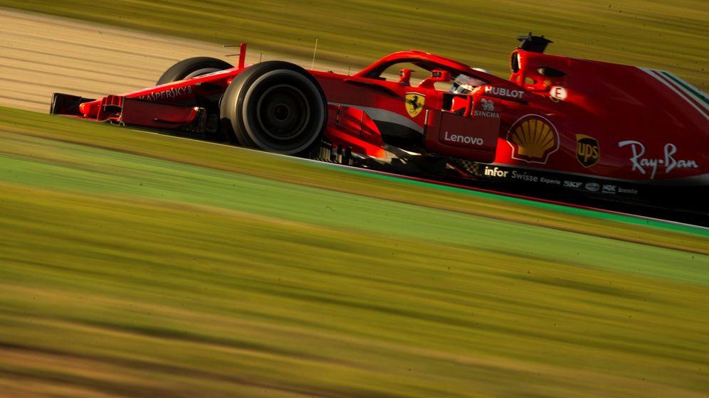 Foto: Sebastian Vettel, este martes en Barcelona. (EFE)