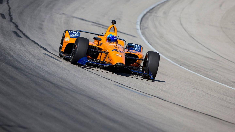 Fernando Alonso condujo por primera vez el McLaren de la Indy este martes en Texas. (Foto: McLaren Indy)