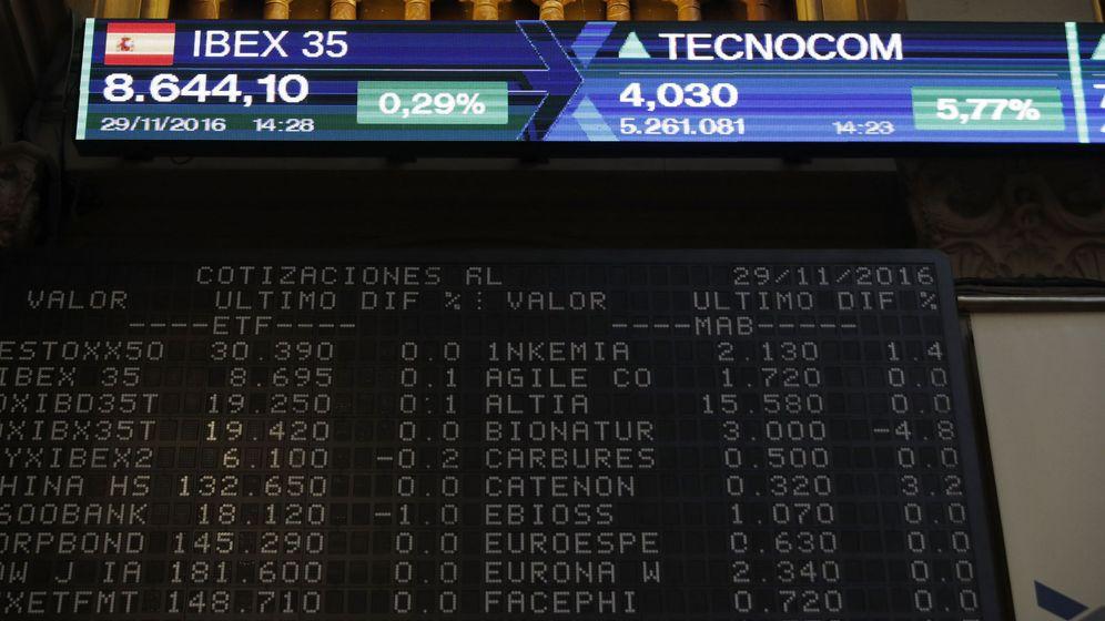 Foto: Panel de cotizaciones de bolsa. (EFE)