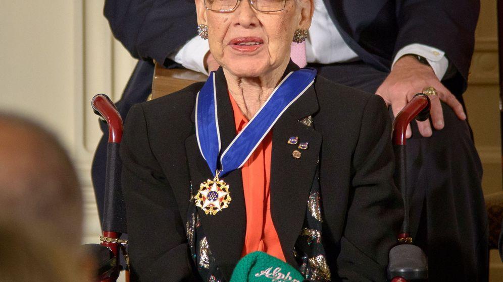 Foto: Katherine Johnson en una ceremonia celebrada en la Casa Blanca, en 2015. Foto: Efe