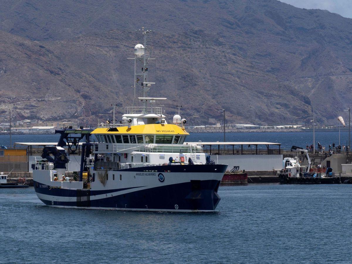 Foto: El buque del Instituto Español de Oceanografía Ángeles Alvariño. (EFE)