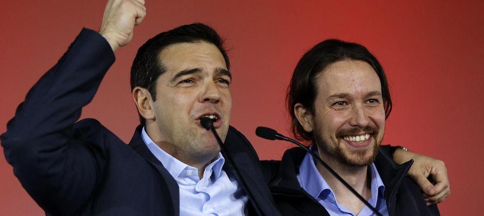 Foto: Alexis Tsipras y Pablo Iglesias, juntos en un mitin en Grecia. (Reuters)