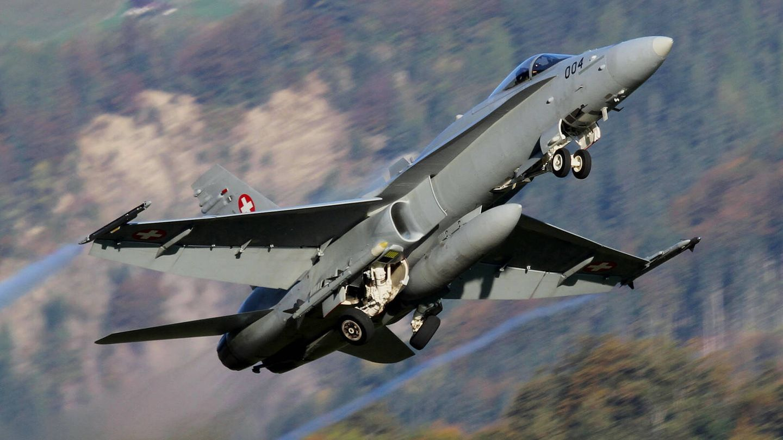 F-18 Hornet de la Fuerza Aérea suiza. (Swiss Air Force)