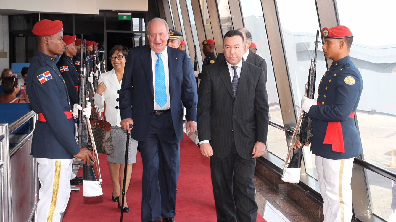 Foto:  El Rey Juan Carlos a su llegada a República Domincana (Casa Real)