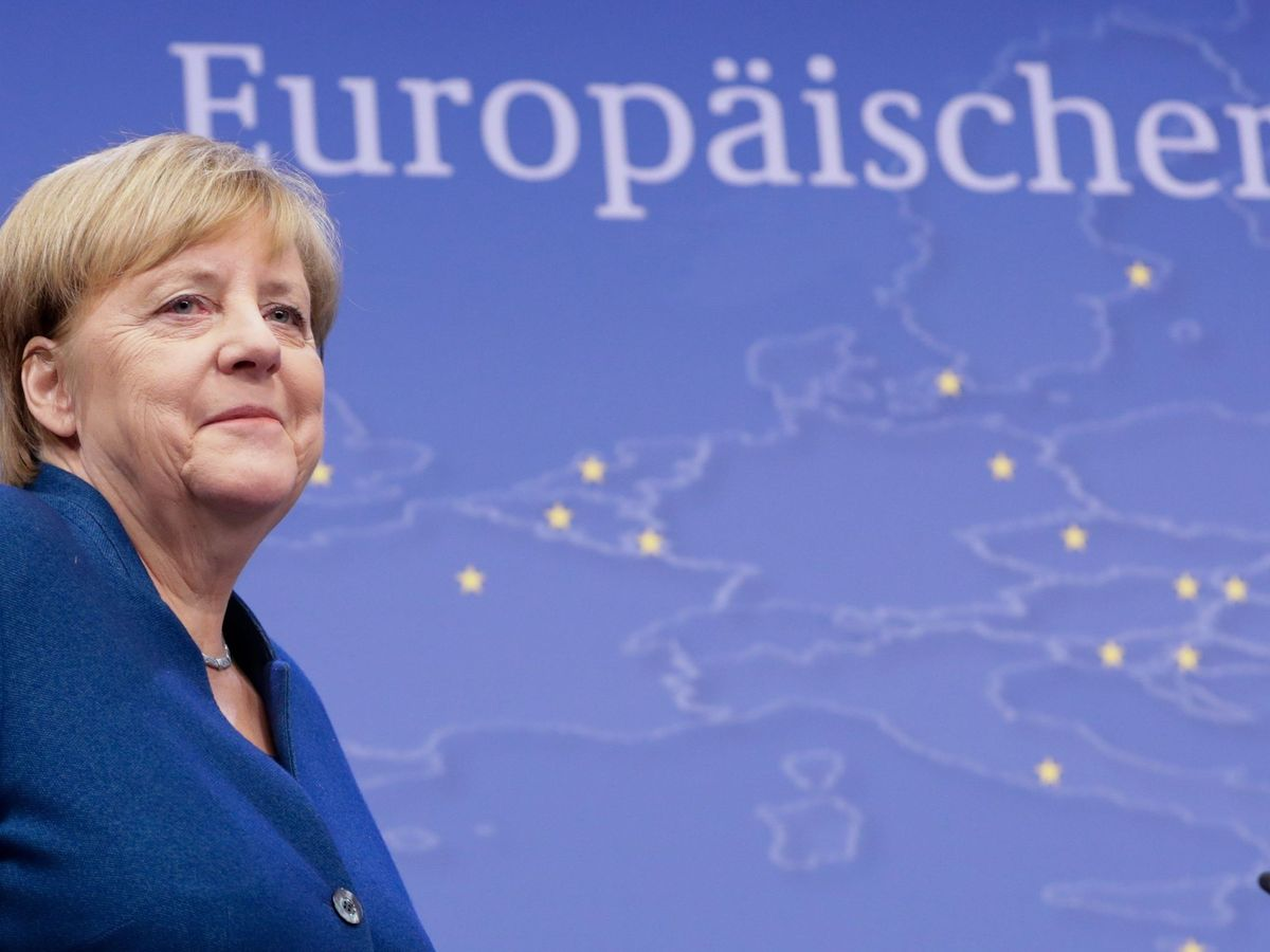 Foto: La canciller alemana, Angela Merkel, en un acto en Bruselas. (EFE)