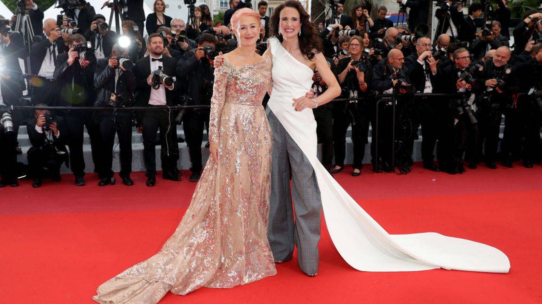Helen Mirren y Andie MacDowell. (Getty)