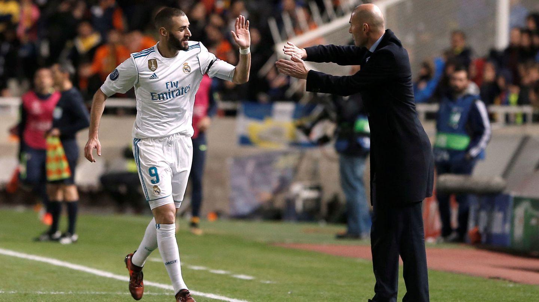 Benzema fue el único integrante de la BBC que jugó los 90 minutos contra el Levante. (Reuters)