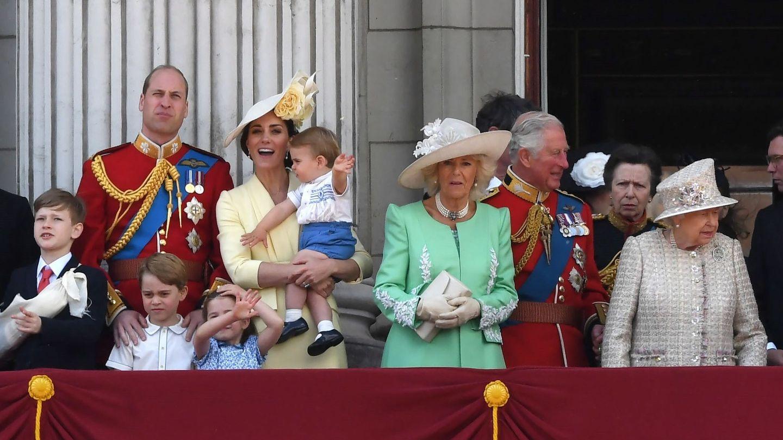La familia real británica, en el último Trooping the Colour. (Reuters)