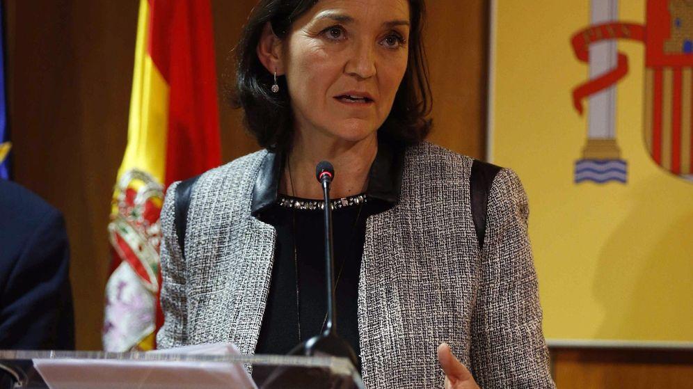 Foto: La Ministra Reyes Maroto en una conferencia de prensa. (EFE)
