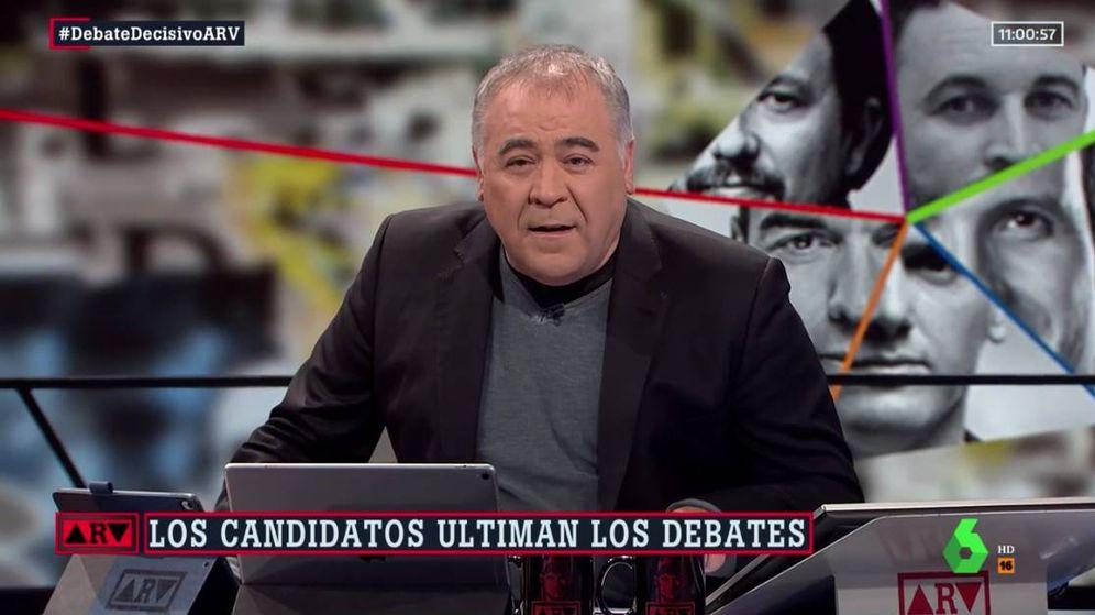 Foto: El periodista Antonio García Ferreras, en 'ARV'. (Atresmedia)