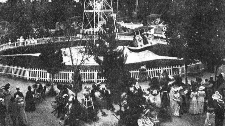 Parque de diversiones de Ciudad Lineal hacia 1912.
