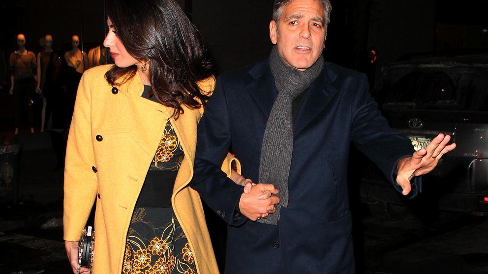 George Clooney y Amal Alamuddin se van de cena para desmentir su ruptura