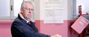 Monti, el primero de los principales candidatos en votar