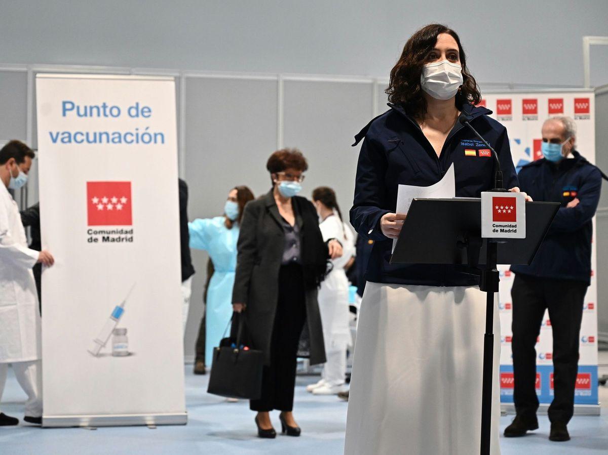 Foto: Ayuso culpa a Sánchez de que la Comisión Europea no visite el hospital Zendal. (EFE)