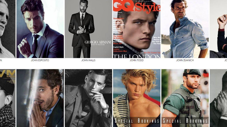 Imagen de Jorge junto a otros modelos en la web de Sight Management.