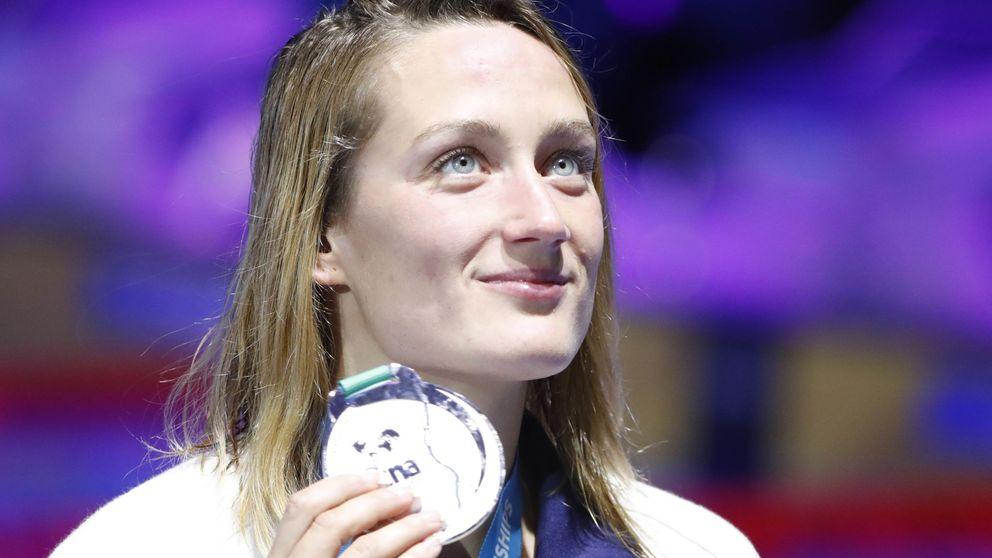 Sólo una extraterrestre puede con Mireia Belmonte: plata en 1.500 metros libre